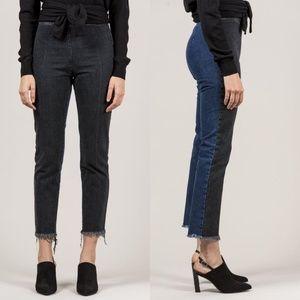 Rachel Comey Two Tone Fletcher Jeans Raw Hem